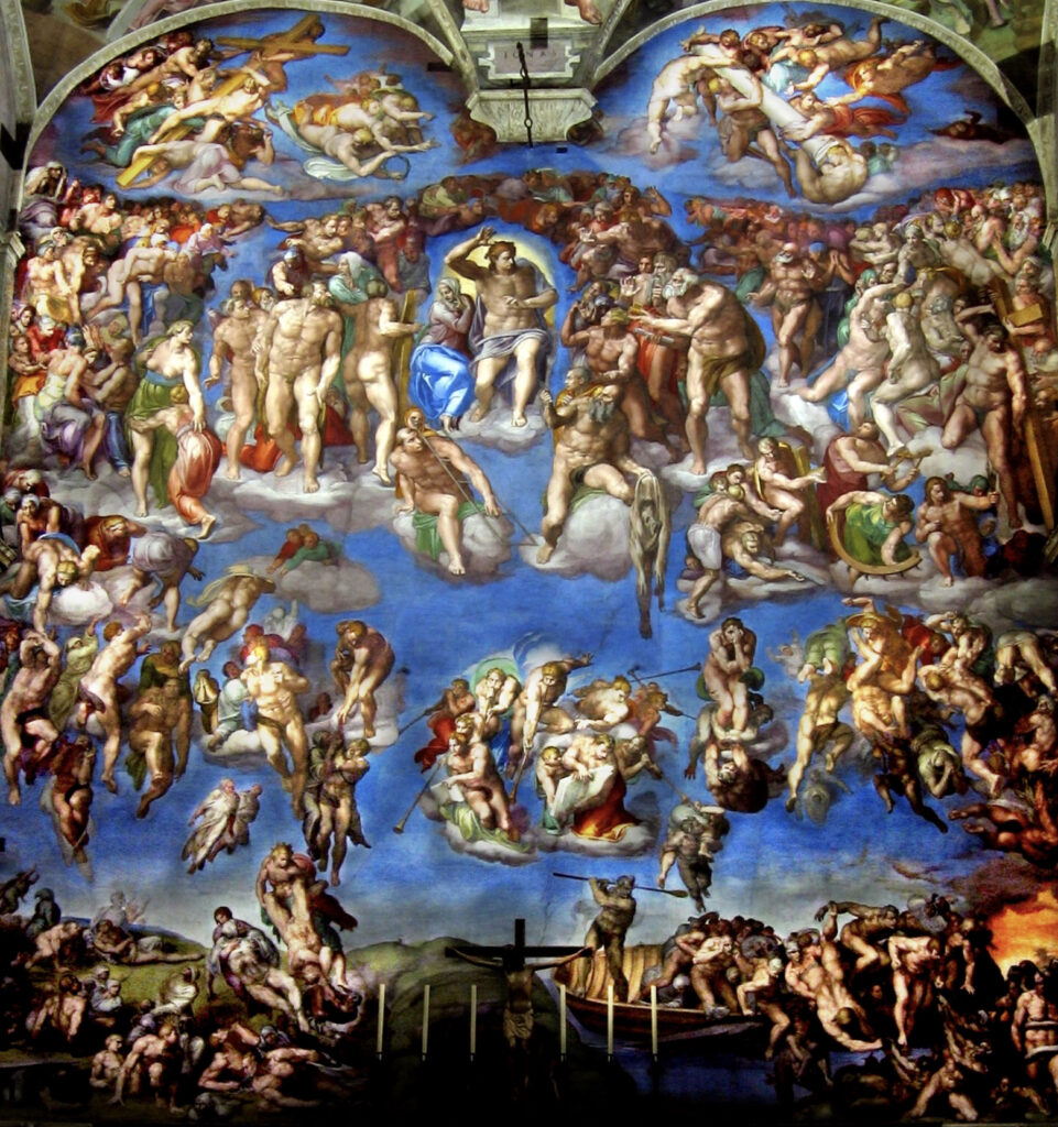 Giudizion Universale, Cappella Sistina Michelangelo